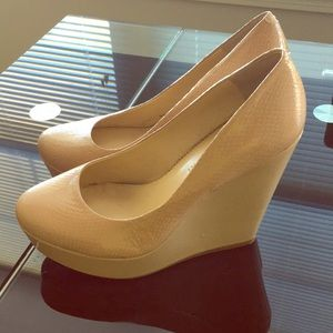 Nude Wedge Heel